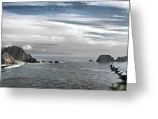 Three Arch Rocks National Wildlife Refuge Near Cape Meares Oregon Greeting Card