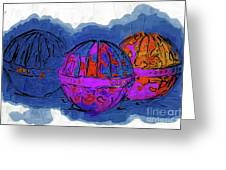 Three Balls Greeting Card