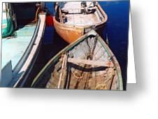 Three Boats Greeting Card