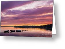 Three Boats In French Village, Nova Scotia #2 Greeting Card