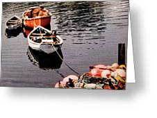 Three Boats Waiting Greeting Card