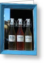 Three Bottles Of Liqueur Greeting Card