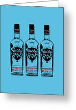 Three Bottles Of Nucky Rye Tee Greeting Card