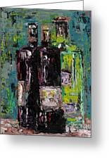 Three Bottles Of Wine Greeting Card