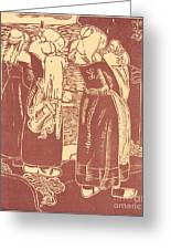 Three Breton Women With Infants Greeting Card