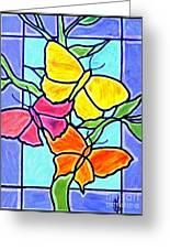 Three Butterflies Greeting Card