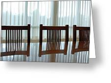 Three Chairs Reflection Greeting Card