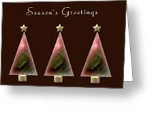 Three Christmas Trees Greeting Card