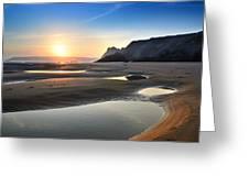 Three Cliffs Bay 2 Greeting Card