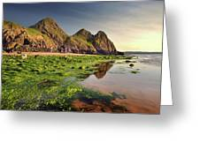 Three Cliffs Bay 3 Greeting Card