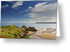 Three Cliffs Bay 4 Greeting Card