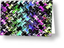 Three-d Dimensional Abstract Design Greeting Card