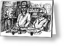 Three Diners Greeting Card