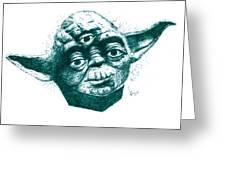 Three Eyed Yoda Greeting Card