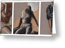 Three Figures - Triptych Greeting Card
