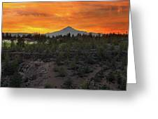 Mount Jefferson At Sunset Greeting Card