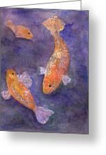Three Fish Greeting Card