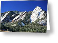 Three Flatirons Greeting Card