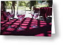 Three For Wine Greeting Card