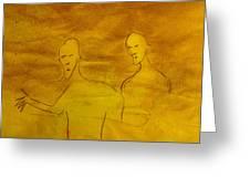 Three Ghost Running Greeting Card
