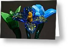 Three Glass Flowers Greeting Card