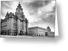 The Three Graces, Liverpool Greeting Card