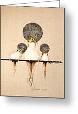 Three Ladies On A Dock  Greeting Card