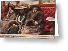 Three Ladies On Carriage Greeting Card