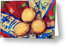Three Lemons Greeting Card