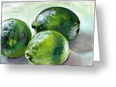 Three Limes Greeting Card