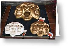 Three Masks For Sale, Venice Greeting Card