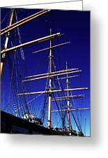 Three Mast Sailing Rig Greeting Card