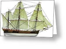 Three Masts Commercial 1760 Greeting Card