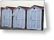 Three Modello Beach Cabanas Greeting Card