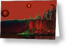 Three Moons Greeting Card