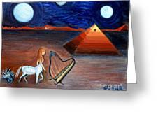 Three Moons Greeting Card by Pilar  Martinez-Byrne