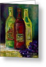 Three More Bottles Of Wine Greeting Card