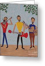 Three Musicians Greeting Card