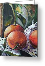 Three Oranges Greeting Card