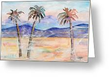 Three Palms Greeting Card