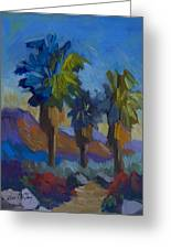 Three Palms At Palm Desert Greeting Card