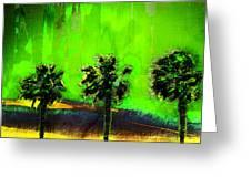 Three Palms IIi Greeting Card