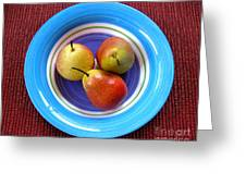 Three Pears In A Bowl Greeting Card