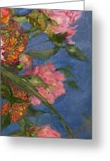 Three Peonies Greeting Card