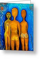 Three People Greeting Card by Pilar  Martinez-Byrne