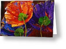 Three Poppies Greeting Card