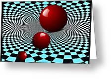 Three Red Balls Greeting Card