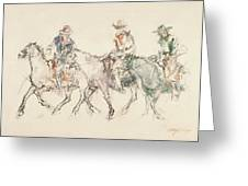 Three Riders Greeting Card