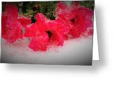 Three Rose Crystals  Greeting Card