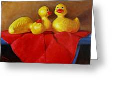 Three Rubber Ducks 3 Greeting Card